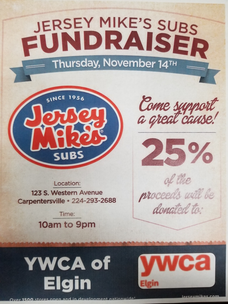 Jersey Mike's Fundraiser Flyer