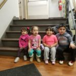 Family Literacy Kids on Stairs